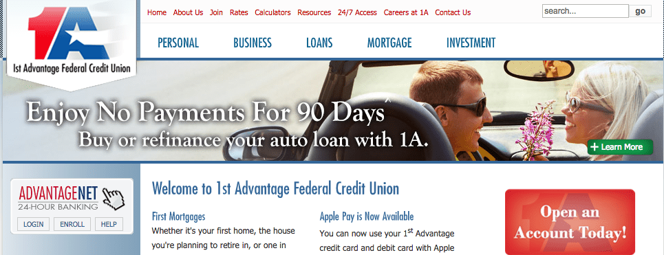 1st advantage homepage