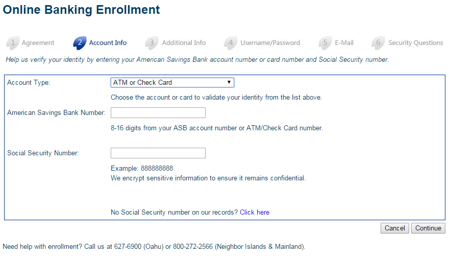 ASB Online Banking Enroll Step 3th