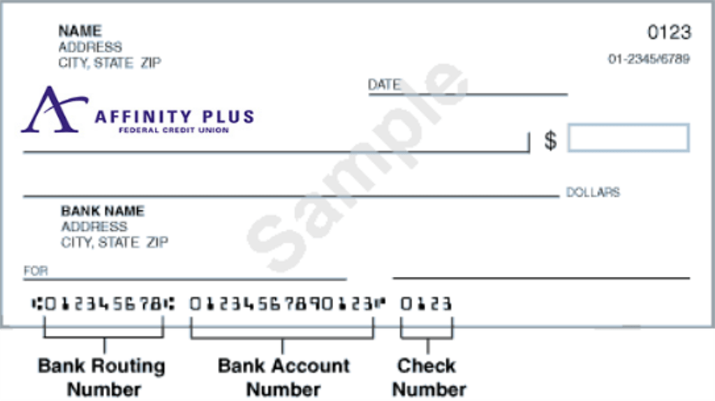 Where to find Affinity Plus routing number