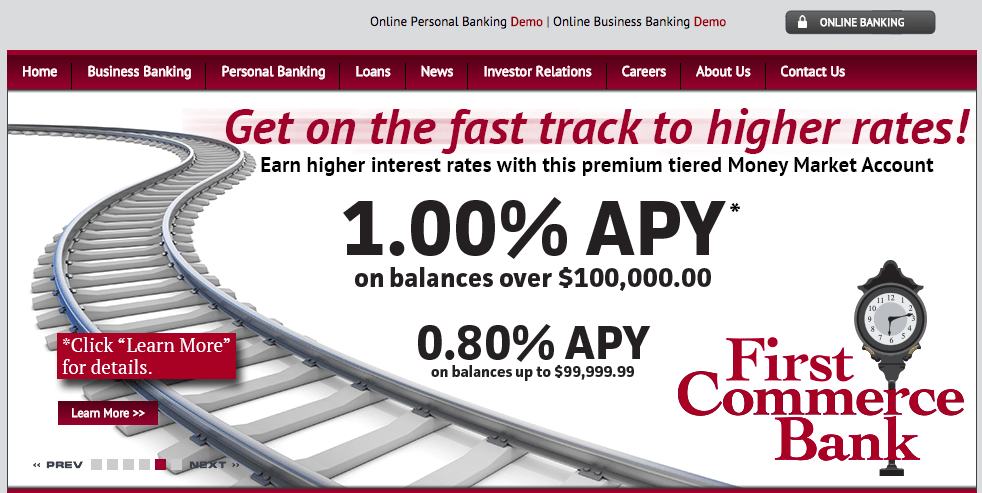 first commerce bank homepage