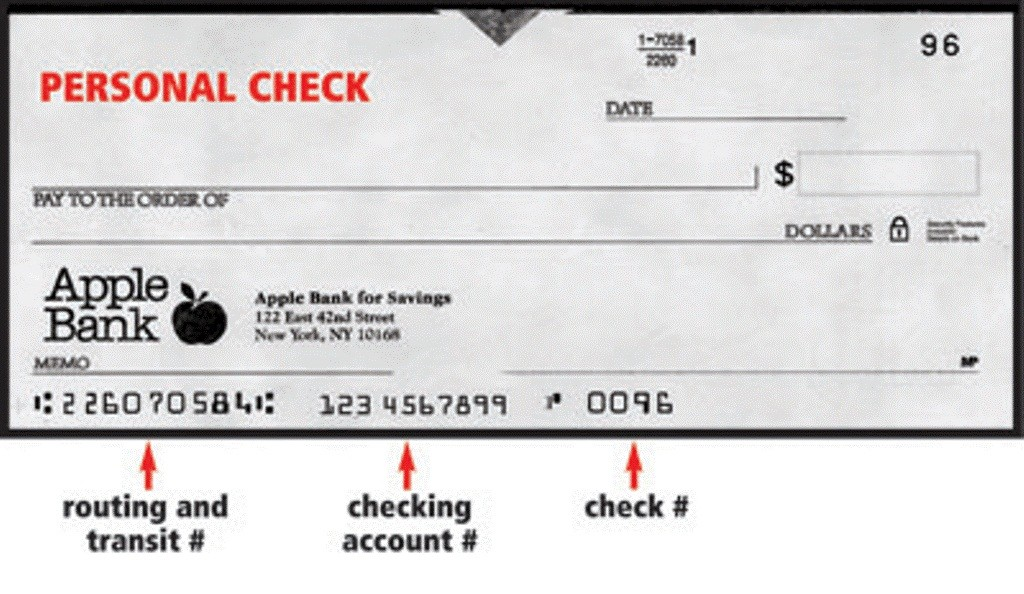 Apple Bank Personal check