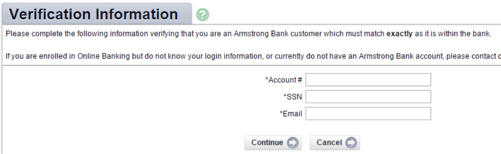 ArmstrongBank Verification