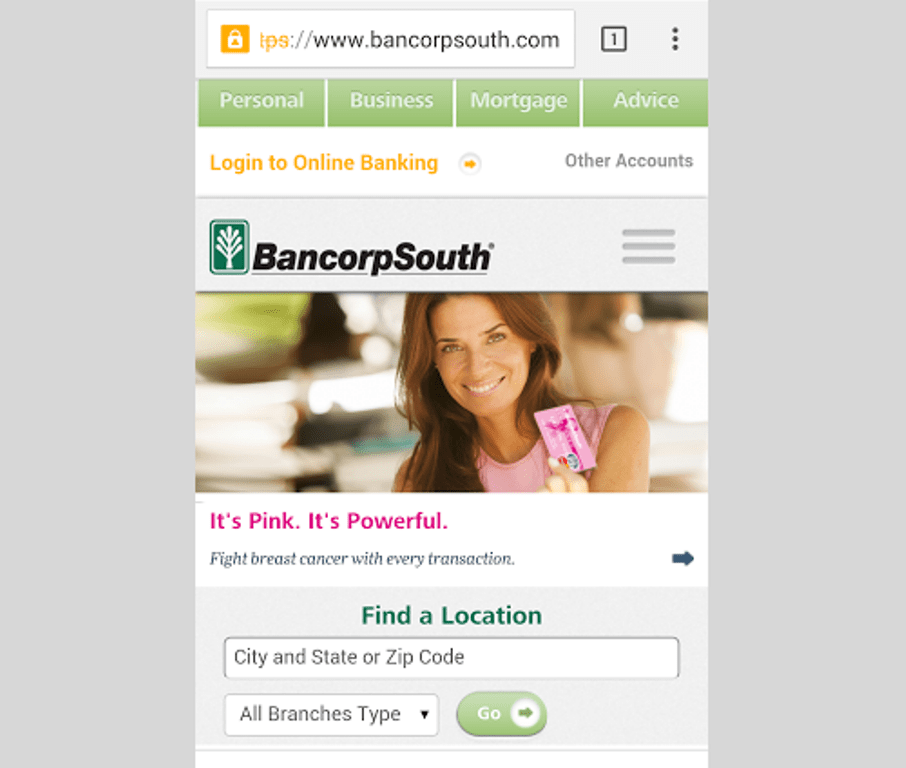 BancorpSouth Bank mobile login
