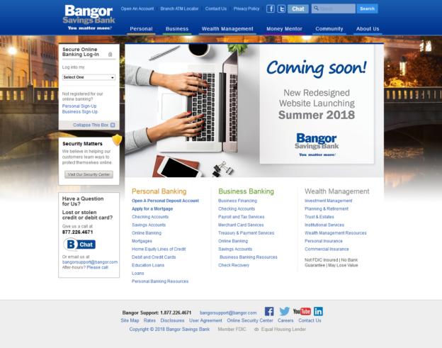 Bangor Savings Bank Homepage