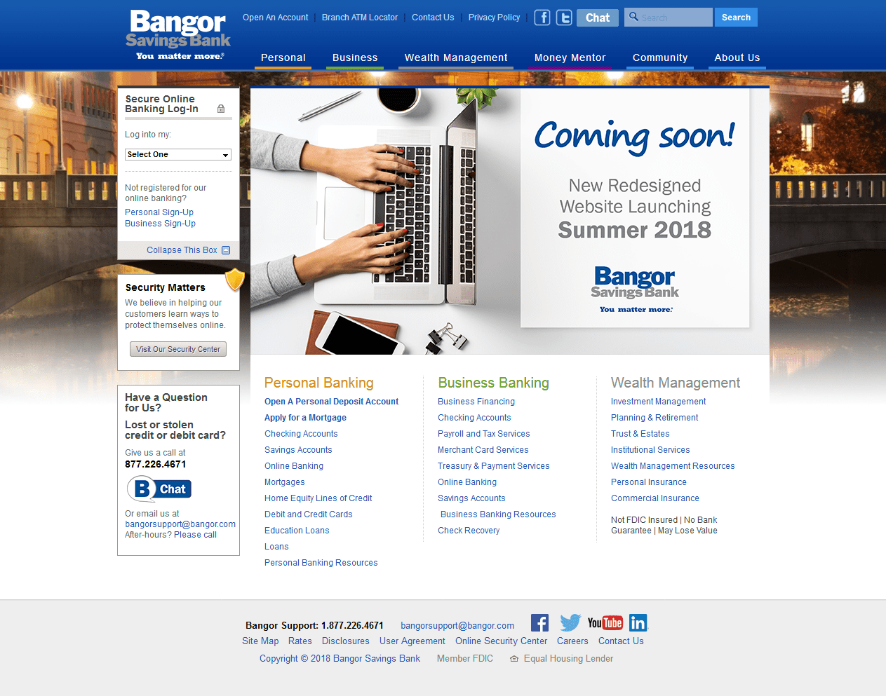 Bangor Savings Bank Homepage