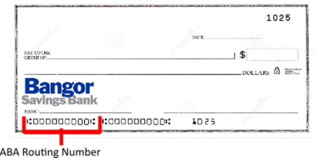 Bangor Savings Bank Routing Number Check