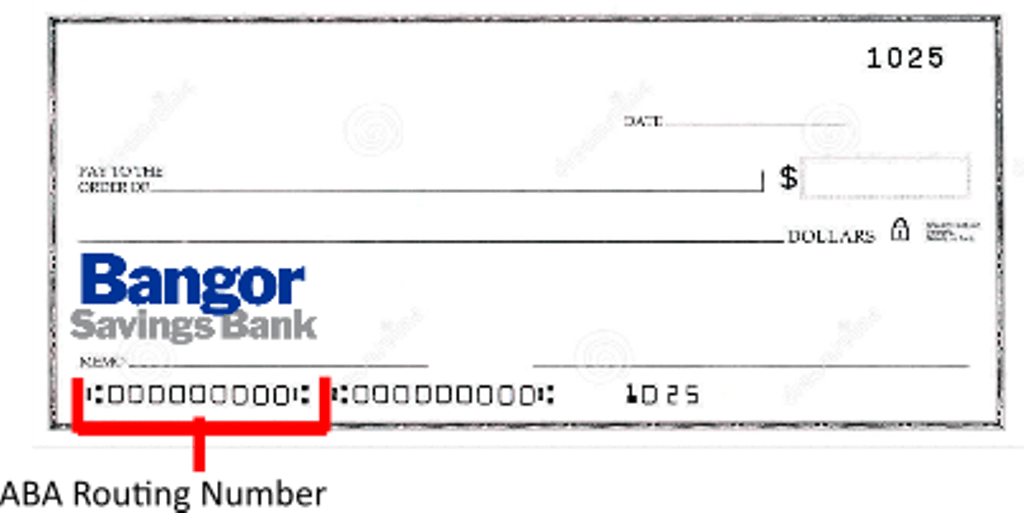 Bangor Savings Bank Routing Number Check