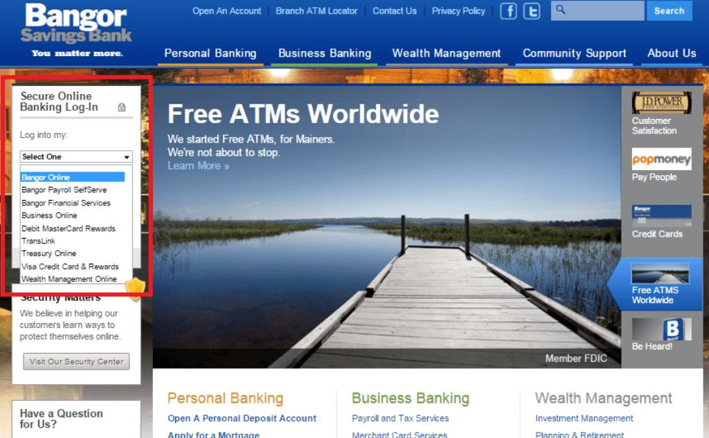 Bangor Savings login
