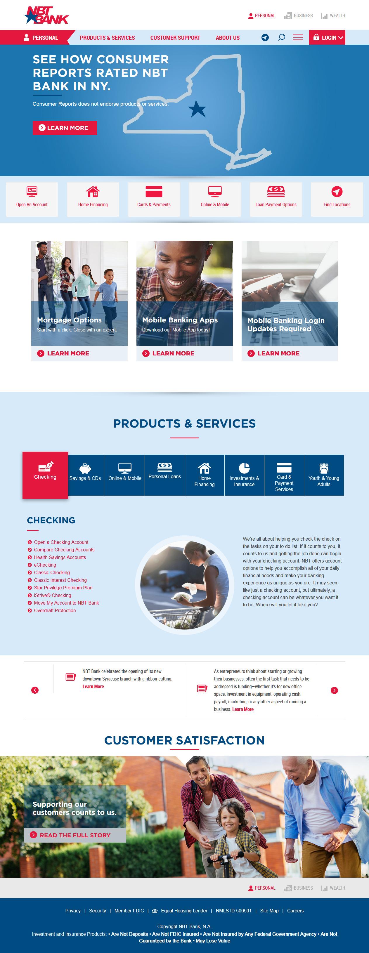 NBT Bank Homepage