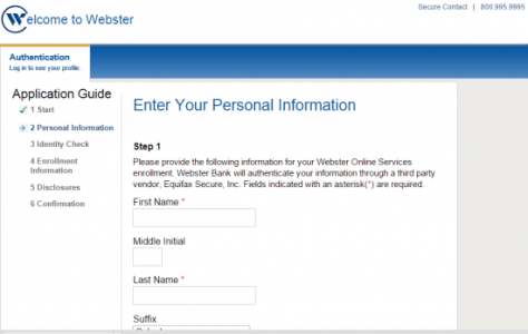 Webster Bank Enroll Step3