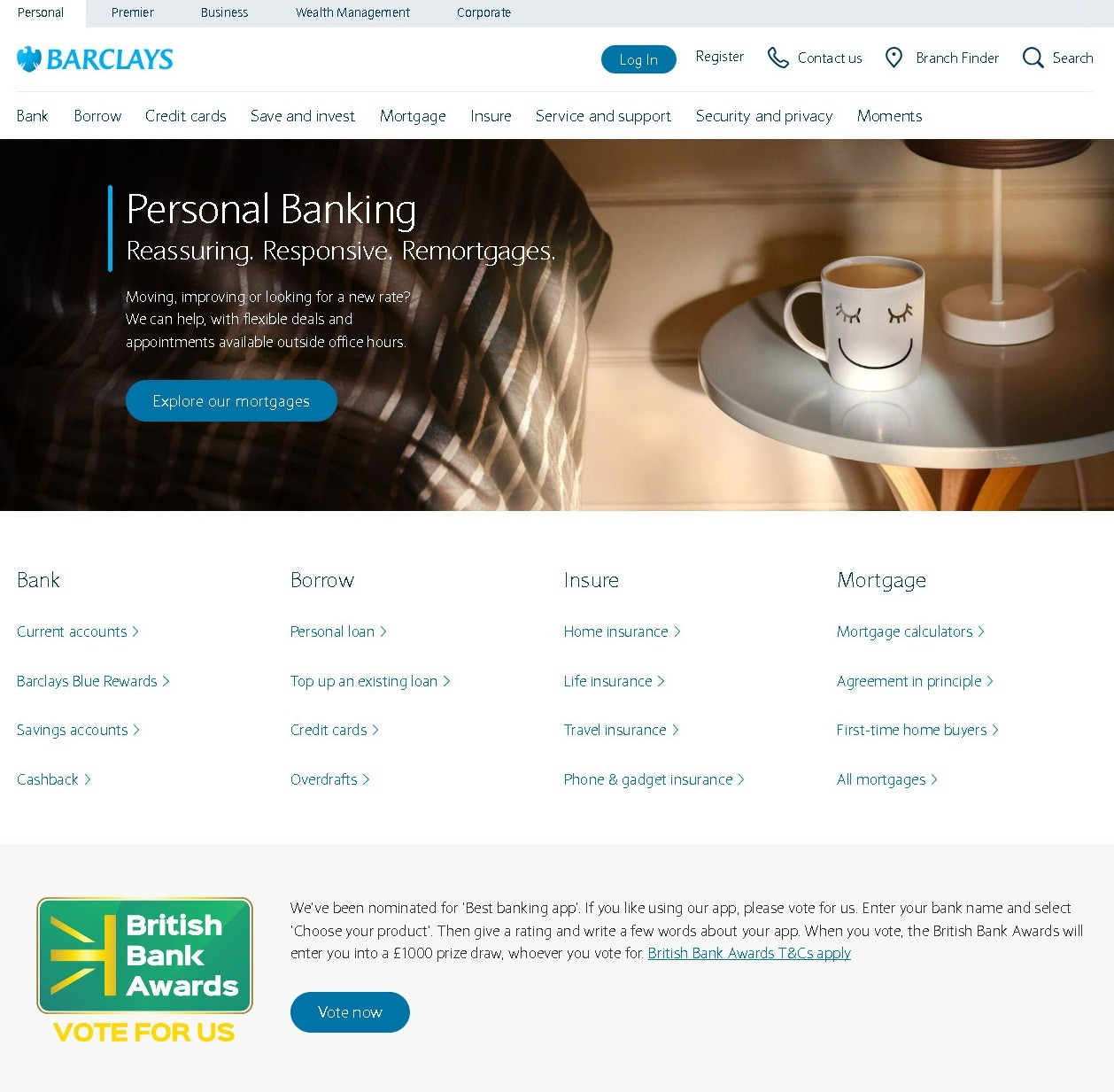 Personal banking Barclays