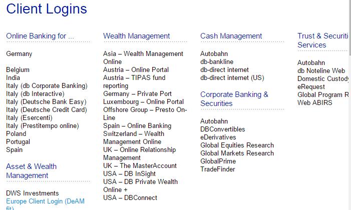 Deutsche Bank_client login