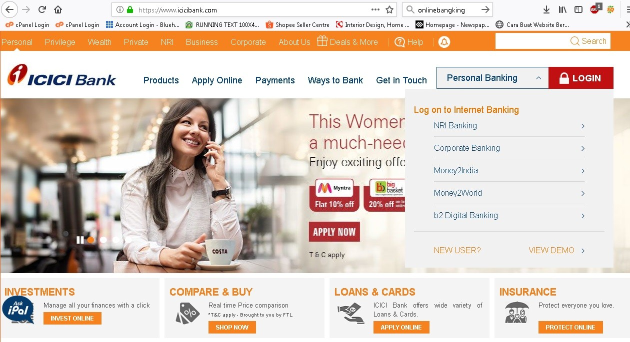 ICICI-Bank-Login Bank Of America Wiring Instructions on