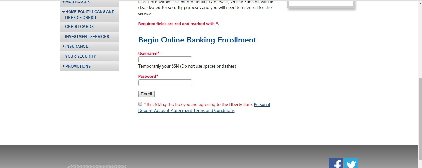 Liberty Bank Enroll