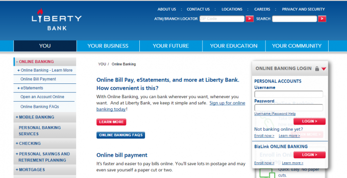 Liberty Bank Login